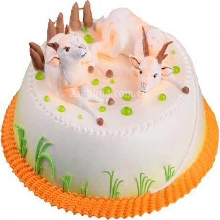 可爱的羊羊 蛋糕【图片