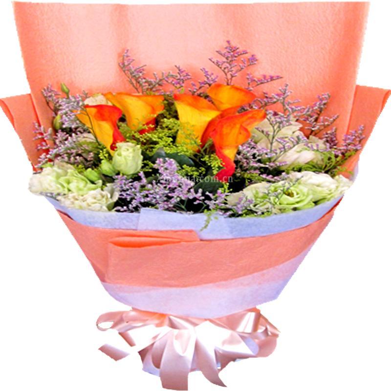 鲜花花束为纯手工作品