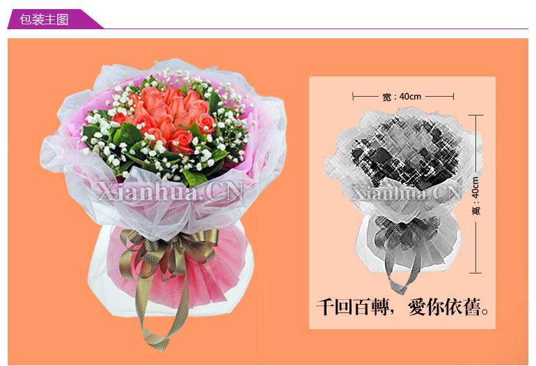 粉玫瑰      [花束辅材]                   满天星