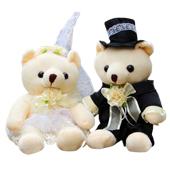 婚礼熊一对 爱就在一起
