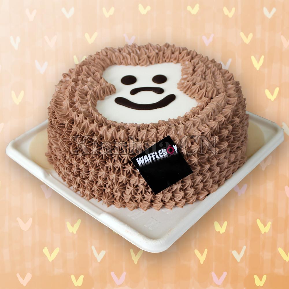 动物蛋糕猴子图片