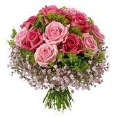 欧洲Bouquet in pink shades & lime