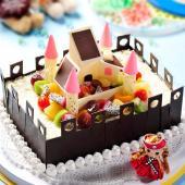 一品轩-城堡巧克力生日蛋糕